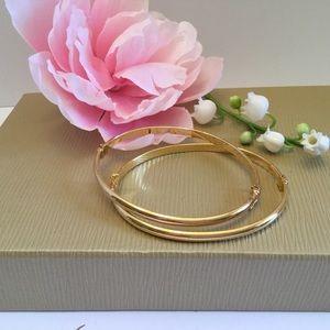 Jewelry - 🌸NEW 18kS/S GOLD HINGED BRACELETS 🌸